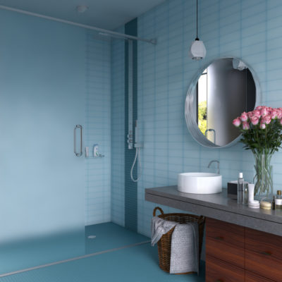 3d visualization bathroom rendering contemporary blue bathroom with vanity 2721