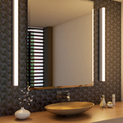 3d visualization bathroom rendering modern lighting