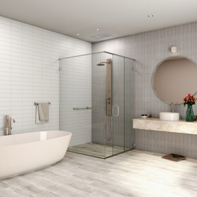 3d visualization bathroom rendering shower stall and bath 2728