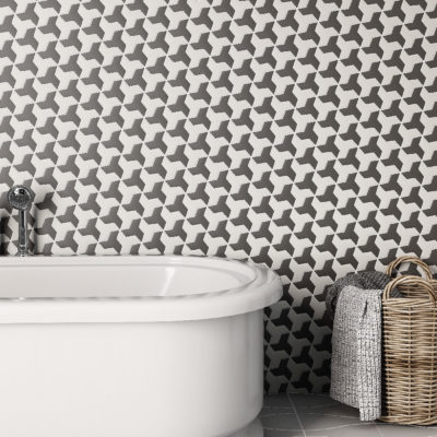 3d visualization bathroom rendering tiled wall