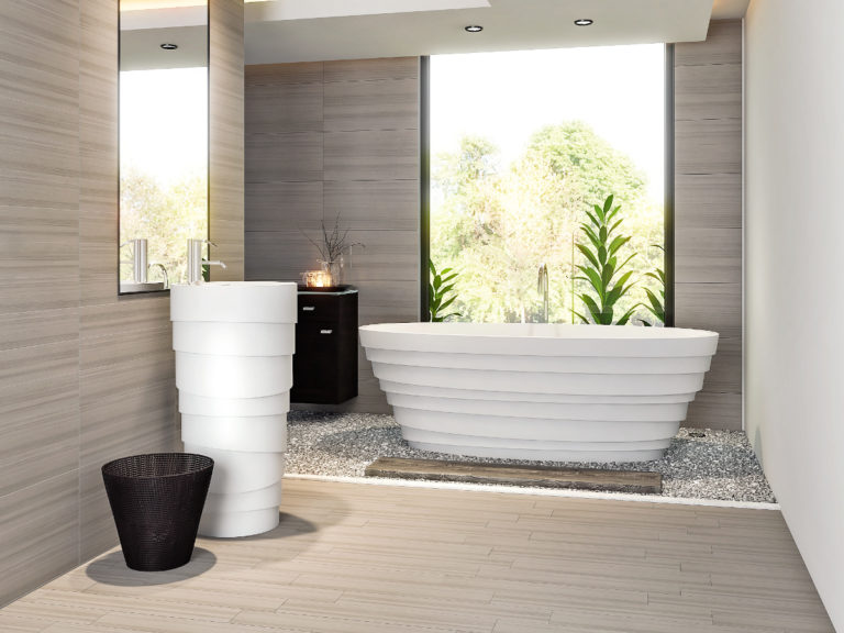 3d visualization bathroom rendering tub lifestyle 2854