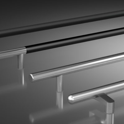 3d visualization close up rendering door pulls 3170