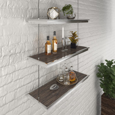 3d visualization close up rendering shelving wall & window mouldings 3357 1