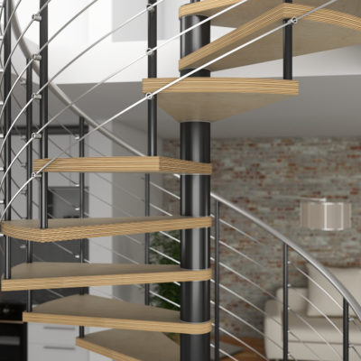 3d visualization close up rendering staircase design