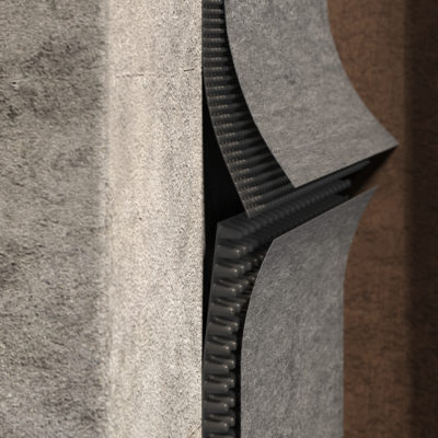 3d visualization close up rendering wall detail