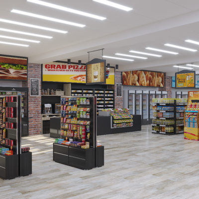 3d visualization commercial rendering grocery store 3492