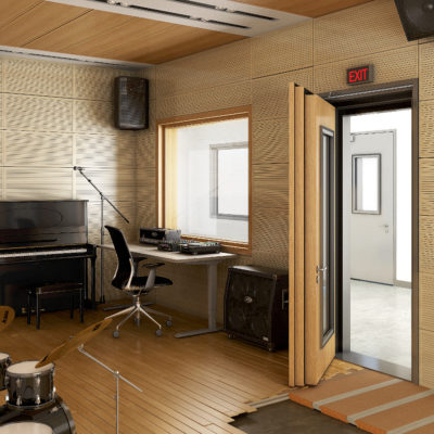 3d visualization commercial rendering music room