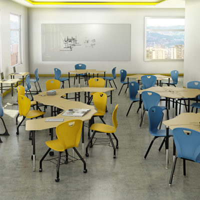 3d visualization educational rendering empty school classroom 2482 1