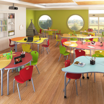 3d visualization educational rendering kindergarten classroom