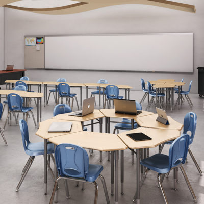 3d visualization educational rendering school classroom 2205