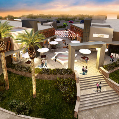 3d visualization exterior rendering birds eye view of shopping mall 2572 3