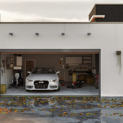 3d visualization exterior rendering european garage