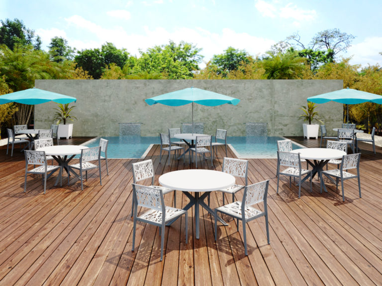 3d visualization exterior rendering outdoor pool environment
