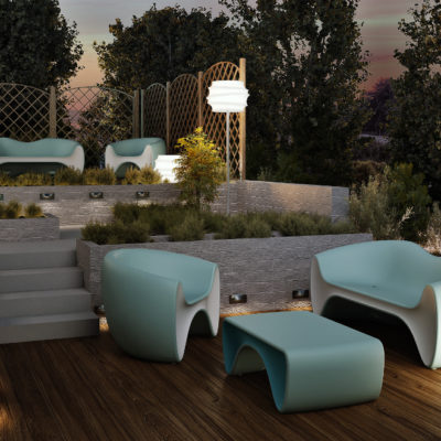 3d visualization exterior rendering patio