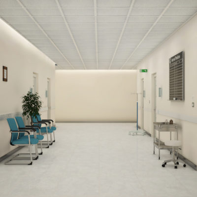 3d visualization healthcare rendering hospital corridor 2 3388 3