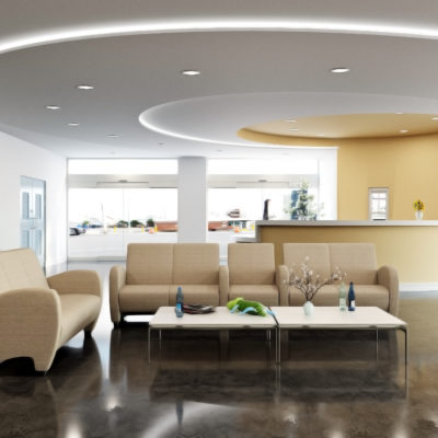 3d visualization healthcare rendering lobby lounge 2973