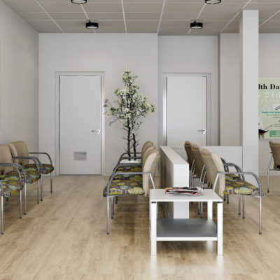 3d visualization healthcare rendering medical lobby 2973