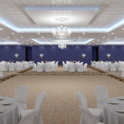 3d visualization hospitality rendering banquet hall 2741