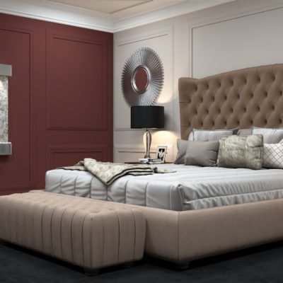 3d visualization hospitality rendering bedroom