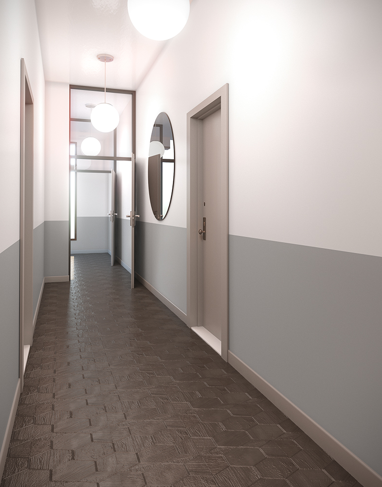 3d visualization hospitality rendering hotel corridor 2729 1