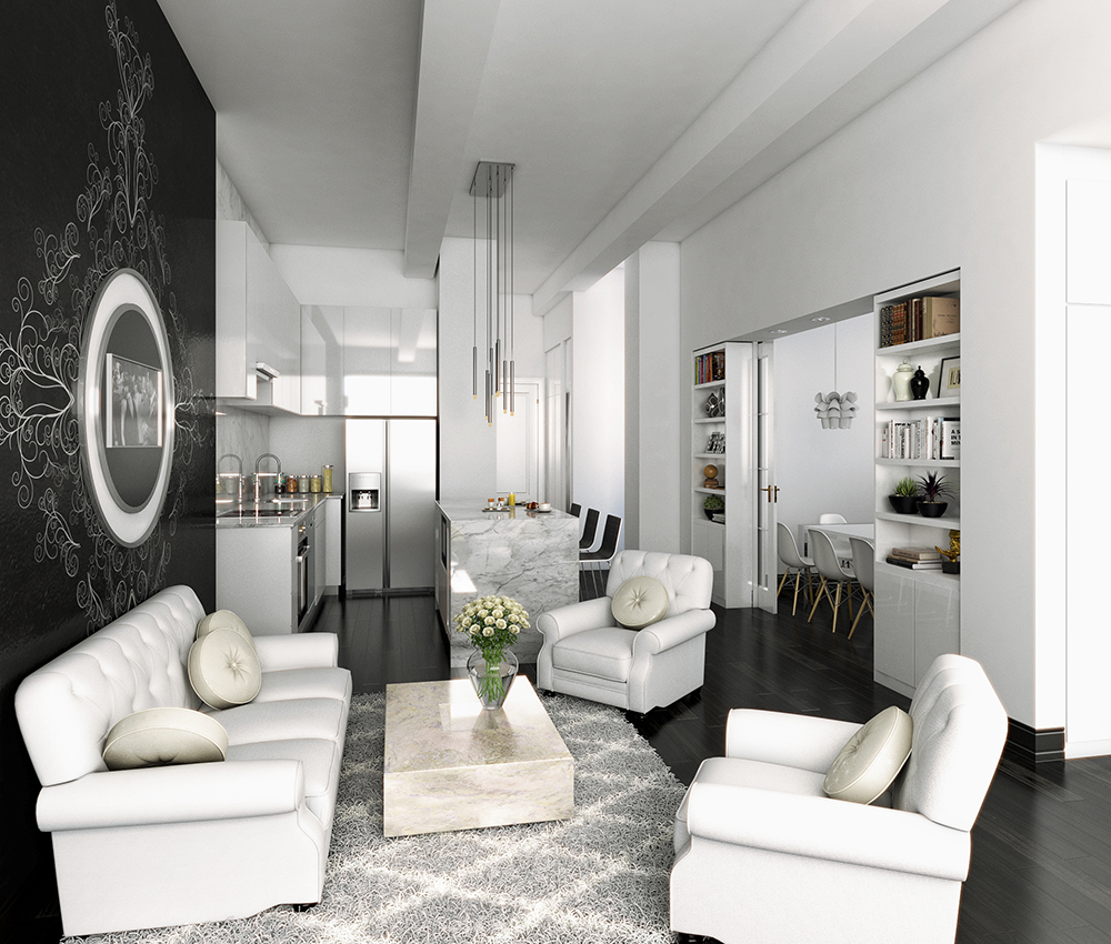 3d visualization hospitality rendering madison appartment 2906 2