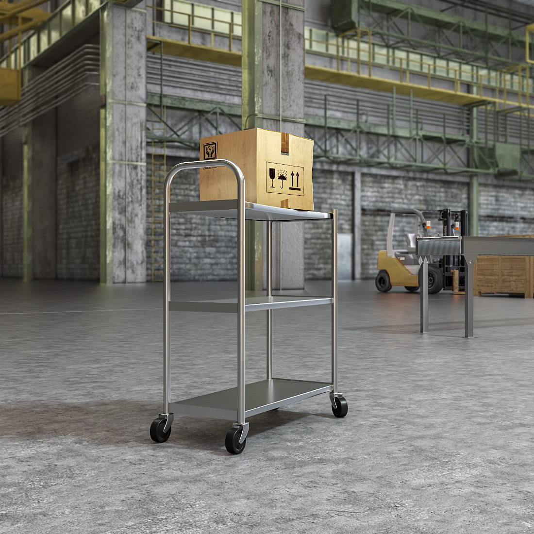 3d visualization industrial rendering handling equipment