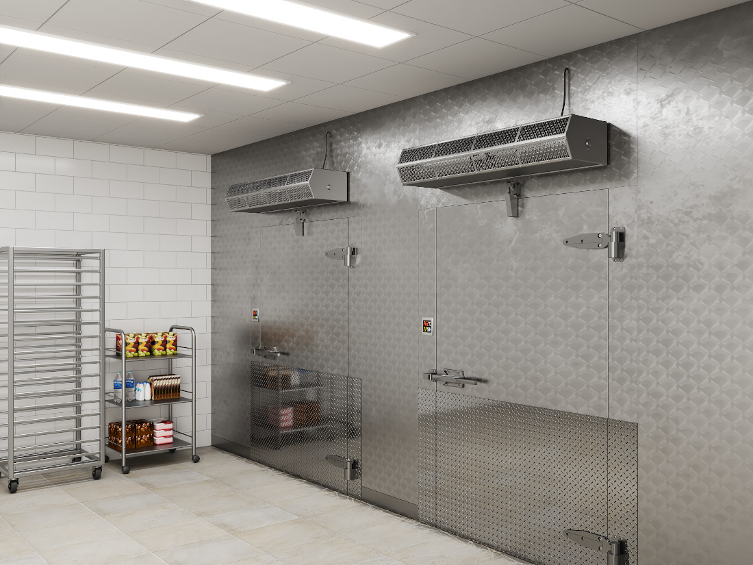 3d visualization industrial rendering walk in cooler