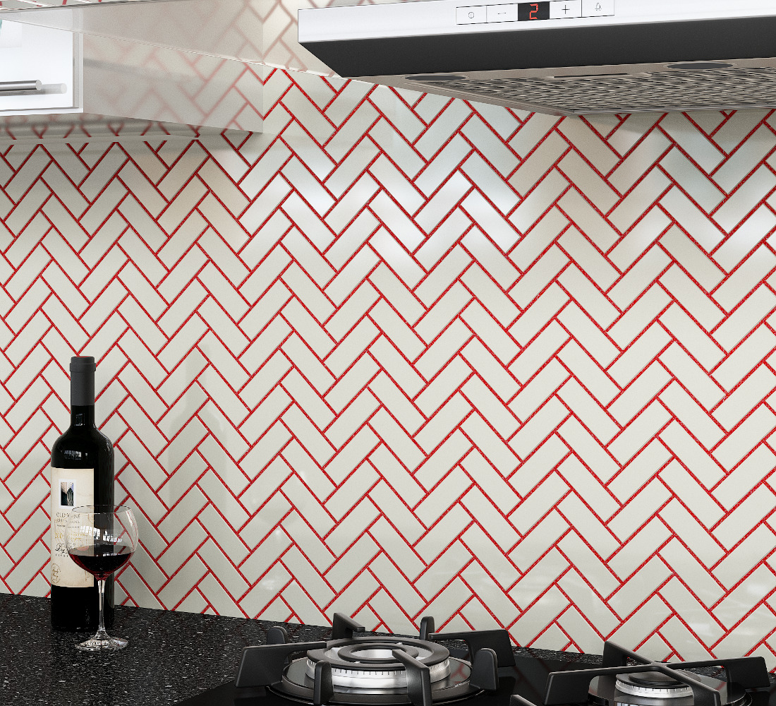 3d visualization kitchen rendering ceramic tile backsplash 1