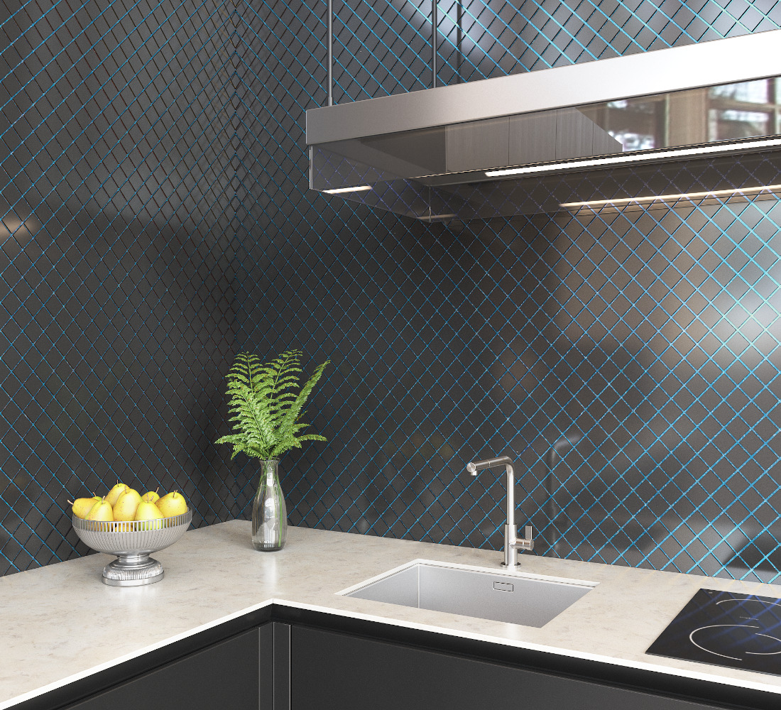 3d visualization kitchen rendering ceramic tile backsplash 2