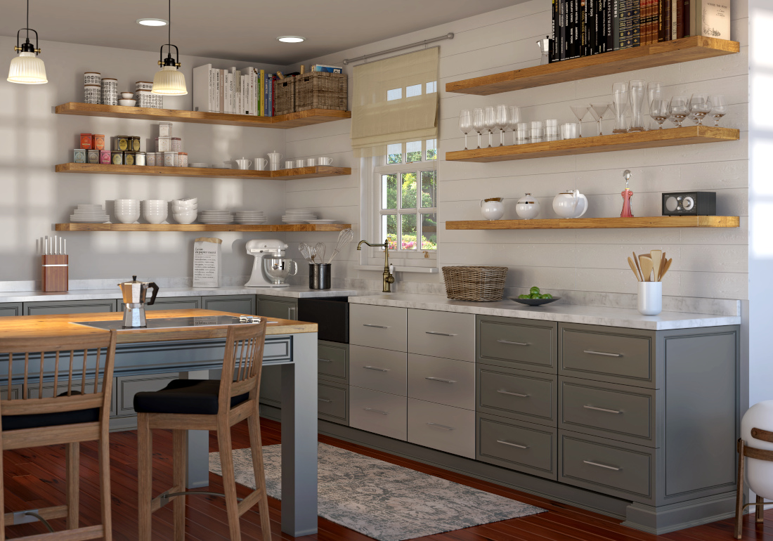 3d visualization kitchen rendering lifestyle country kitchen 4000
