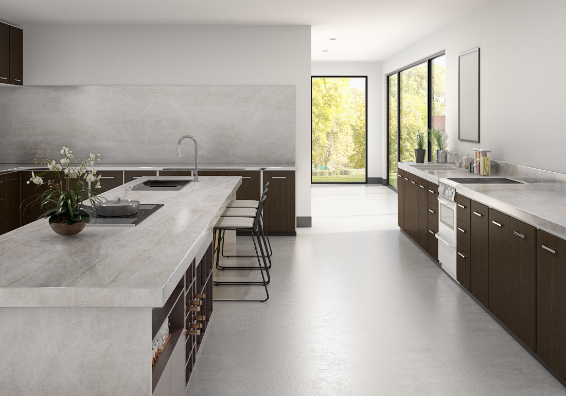 3d visualization kitchen rendering modern marble kitchen 3563 v2