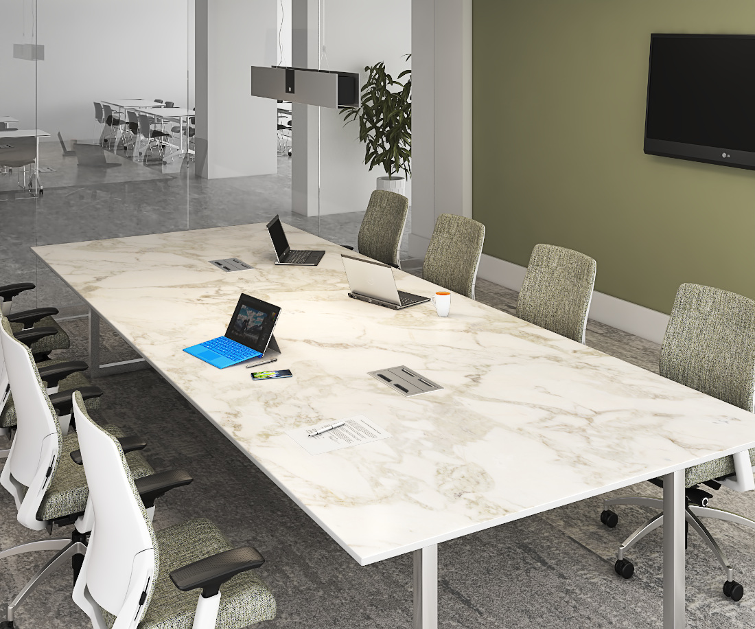 3d visualization lighting rendering conference room with unity table box
