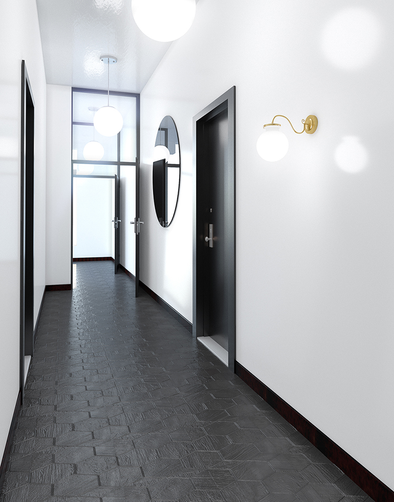 3d visualization lighting rendering hotel corridor light 2729 2