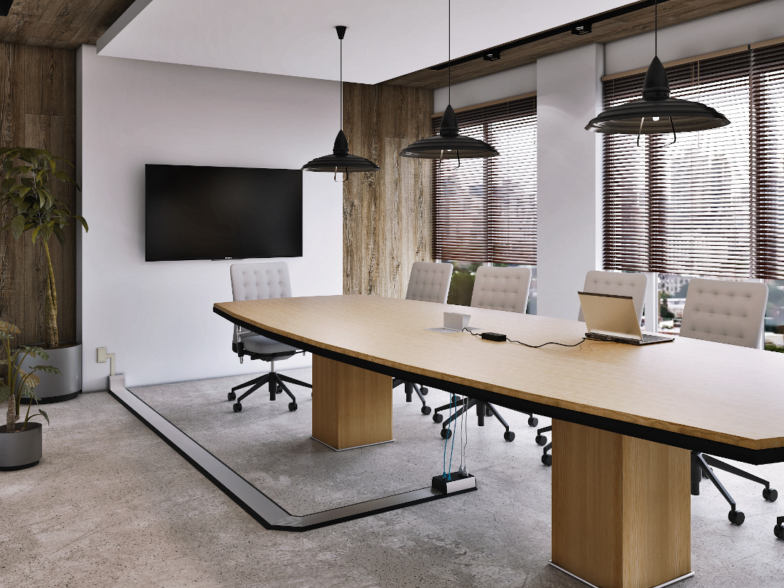 3d visualization office rendering conference room