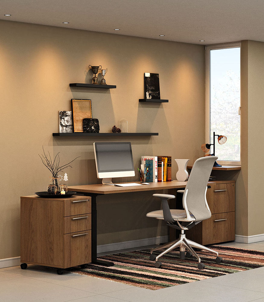 3d visualization office rendering home office 2909