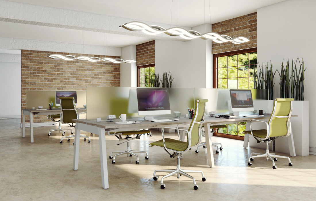 3d visualization office rendering office lighting system 3236