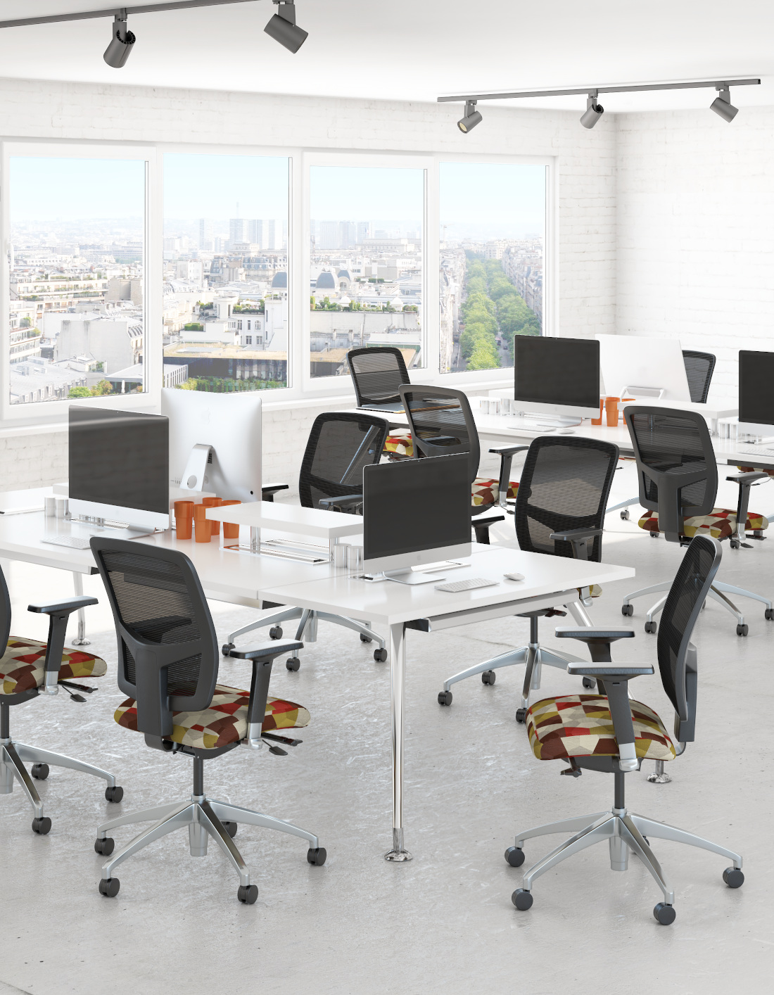 3d visualization office rendering office seating 3735