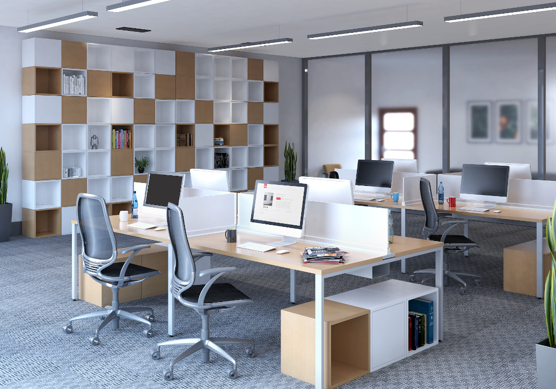 3d visualization office rendering startup office