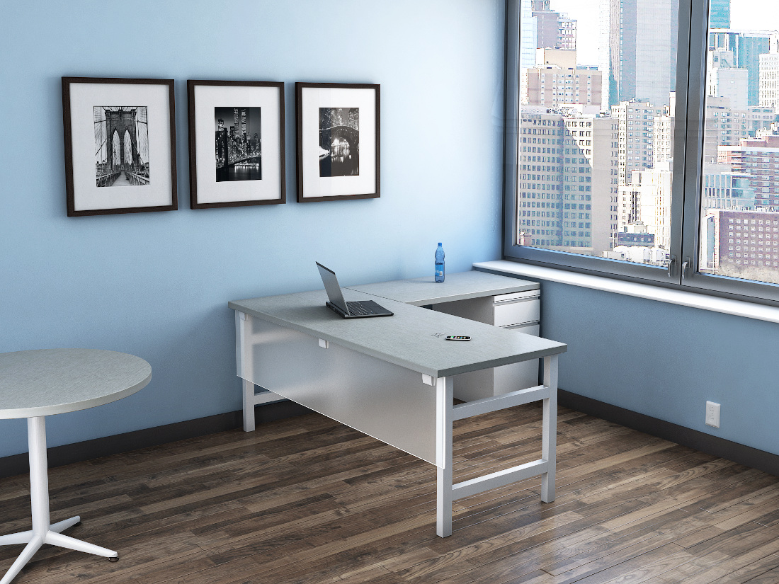 3d visualization office rendering static office
