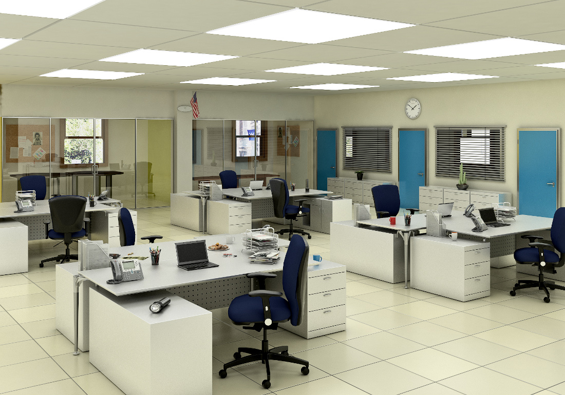 3d visualization office rendering task police 2972