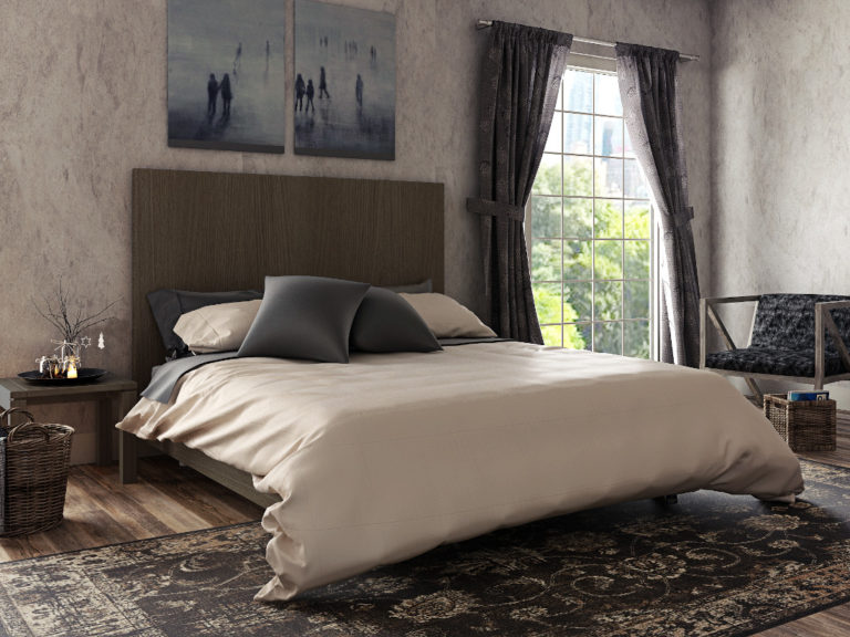 3d visualization residential rendering country house bedroom with bed 2832 2