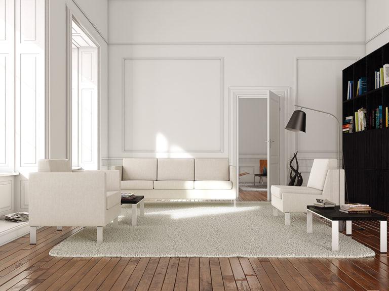 3d visualization residential rendering living room 2334