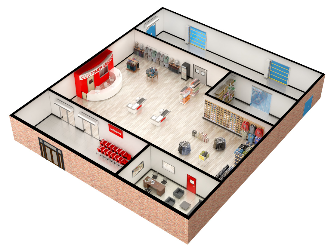 3d visualization top down retail layout 2701 1