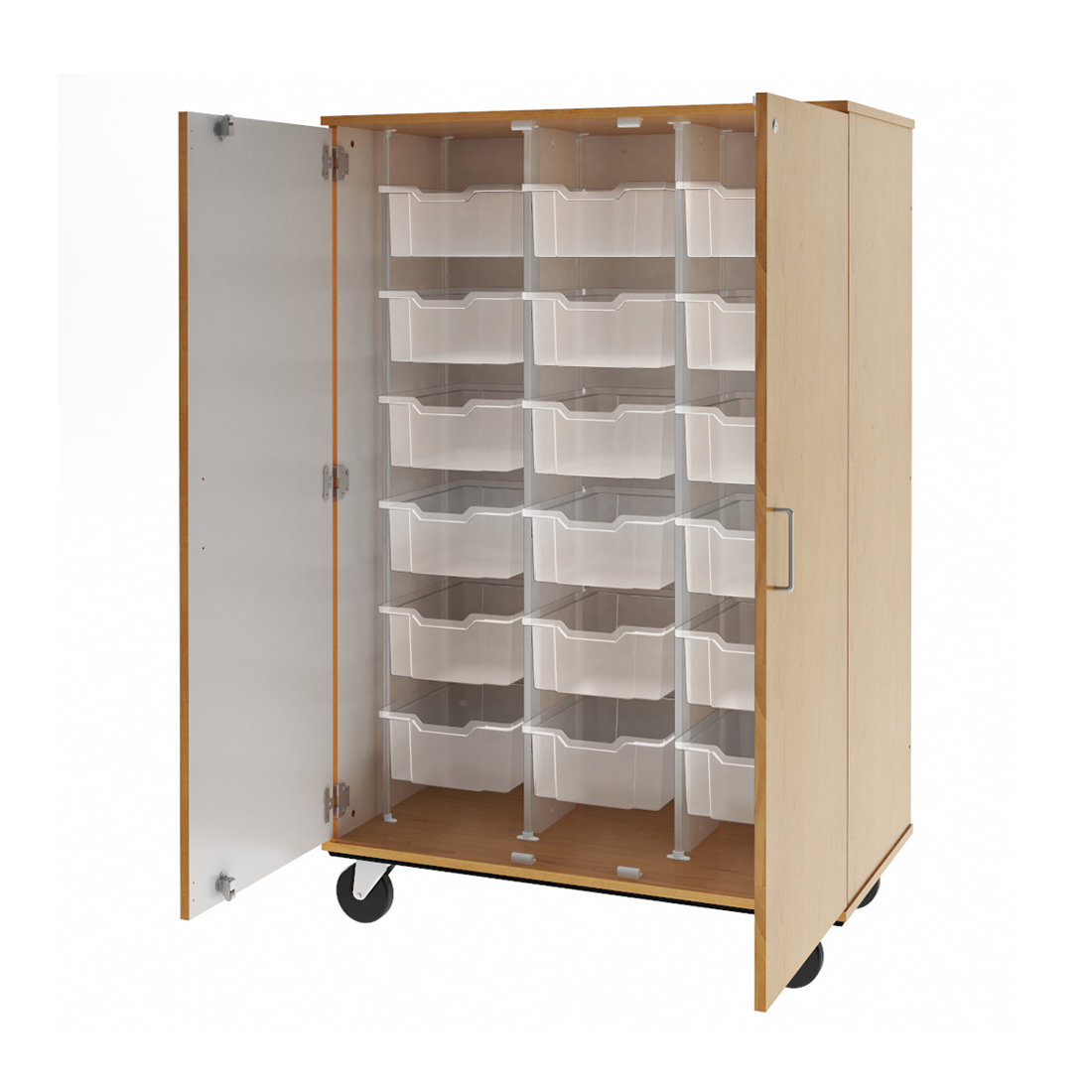 3d visualization white background rendering classroom storage unit 80249F67