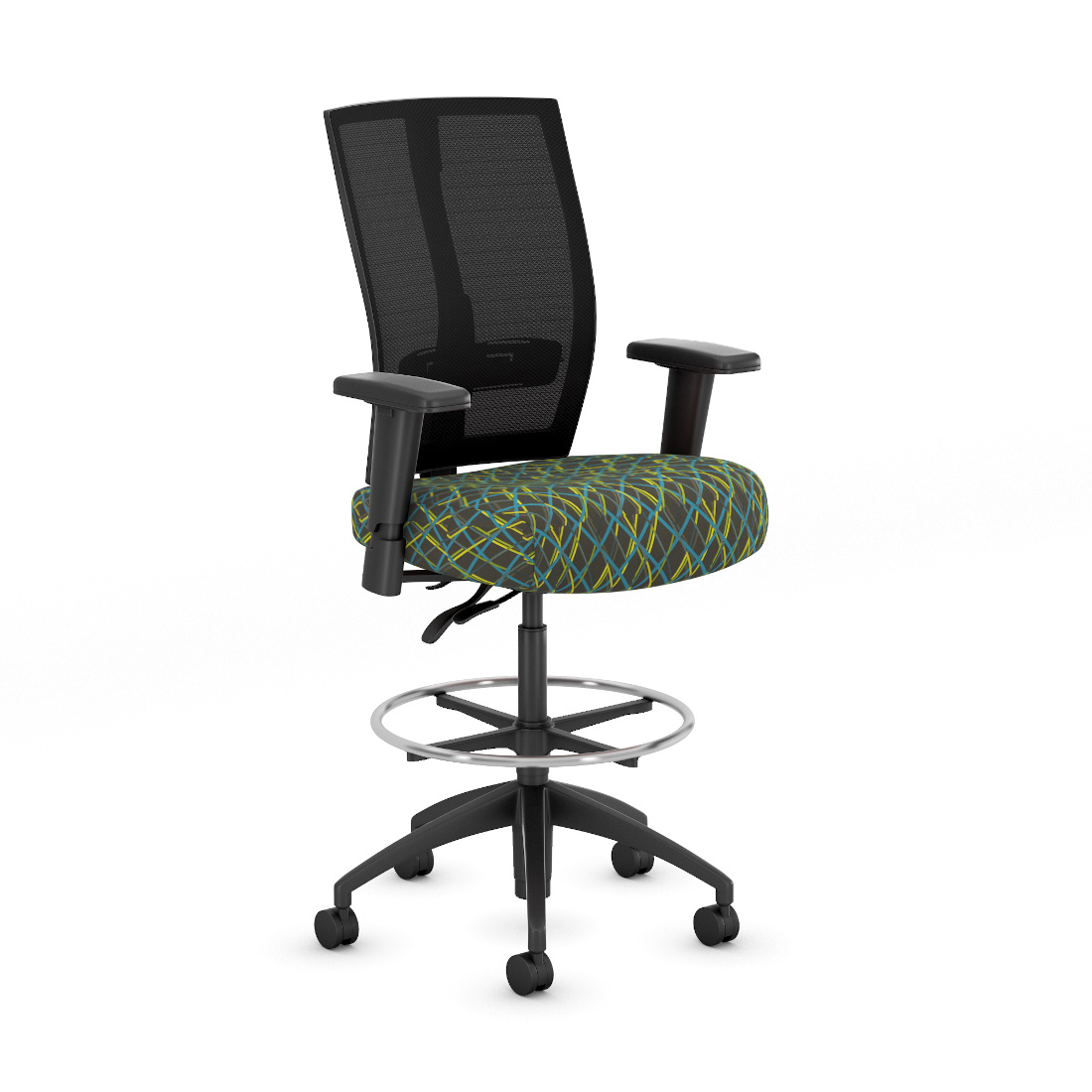 3d visualization white background rendering ergonomic seating