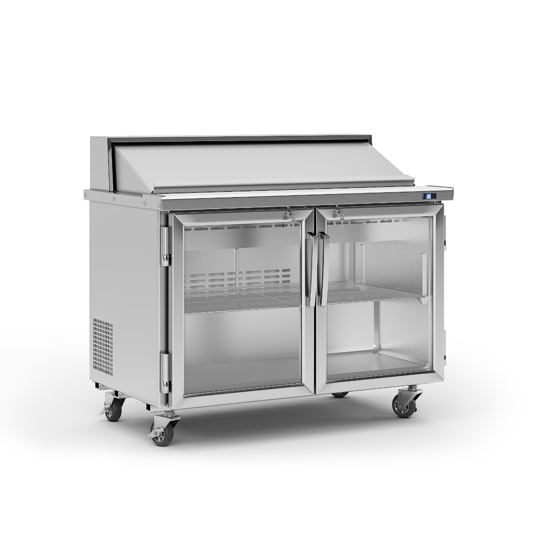 3d visualization white background rendering food equipment unit PST 48 G N 2