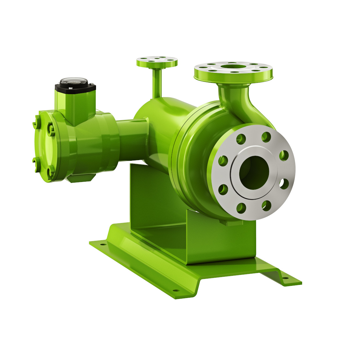 3d visualization white background rendering pump 3 218