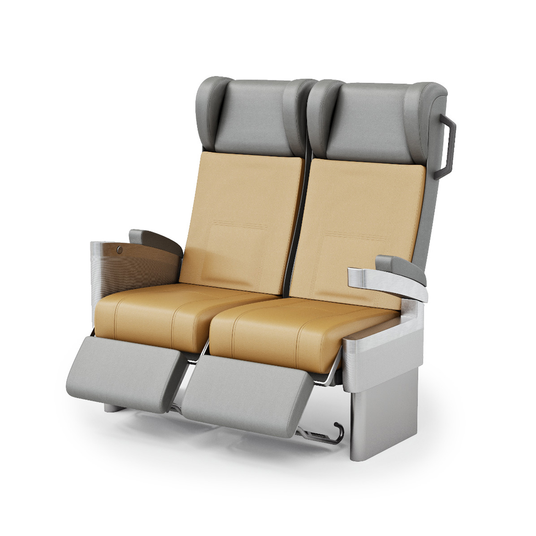 3d visualization white background rendering train chair