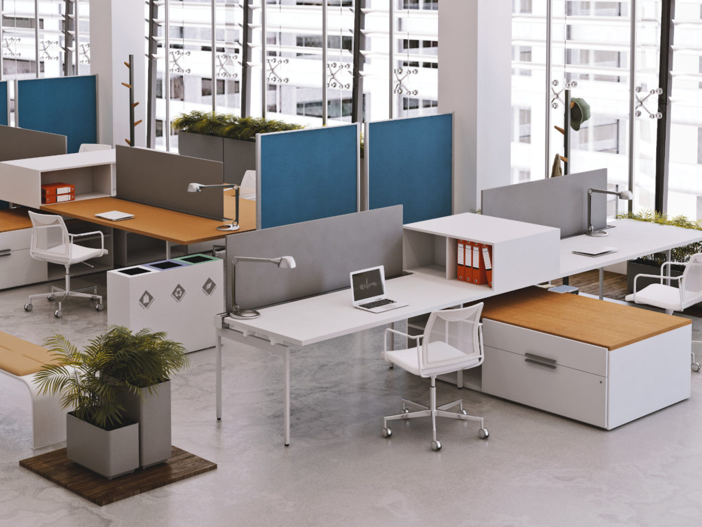 Lifestyle renderings for office furniture manufacturers