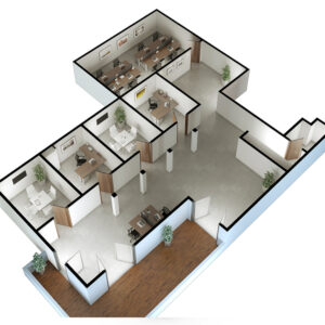 3D Visualization - Floor Plan Renderings Final